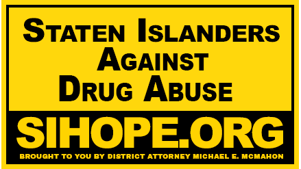 Staten islanders against drug abuse lawn sign picture that is used for mobile version only